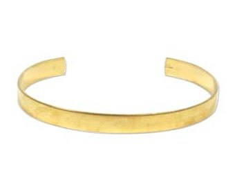 "BRASS Cuff -  1/4"" Wide with Flat Surface - ONE Cuff - Pre-Formed Cuff - Perfect for embellishing with leather, patina, ribbon, etc."