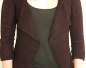 PATTERN Drape Front Fitted Cardigan Pdf