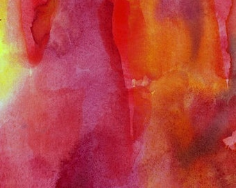 Large Art Print, Watercolor Painting, 16 x 20, Joy