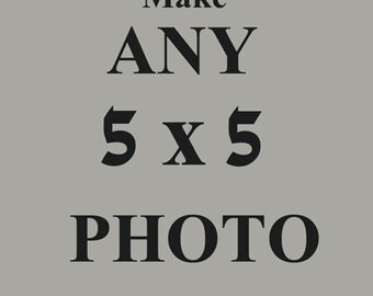 Any Photograph as a 5x5, You choose any nature, beach, carnival, portrait, vintage 5x5 wall art
