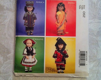 "McCall's Crafts MP324 also sold as 6825 18"" Doll Clothes Around the World New Uncut"