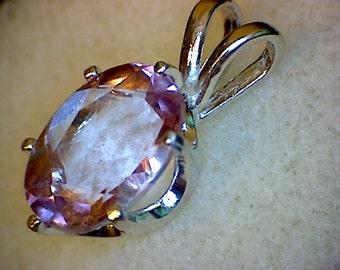 Beautiful Pink Topaz Pendant
