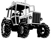 Agricultural Tractor  // FLONZ Clear stamp clingy acrylic