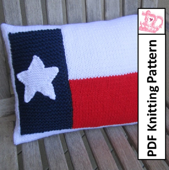 Knitting Pattern Us Flag : PDF KNITTING PATTERN Texas Flag knitting pattern