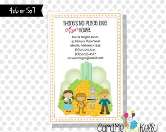 Printable Wizard of Oz Yellow Brick Road Inspired Change of Address Card - Printable Digital File