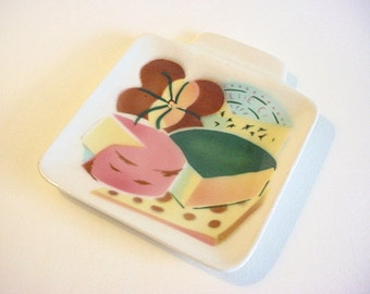 Charming Vintage Small Cheese Tray, Serving Dish