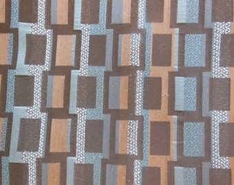 Brown Reversible Placemats - Geometric Square Placemats - Set of Four - Placemats by Pillowscape Designs