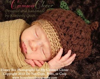 Baby Hat Pattern Crochet - Acorn Cap Hat