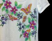 Ladies Flower Garden Dress, sleeveless or short sleeves