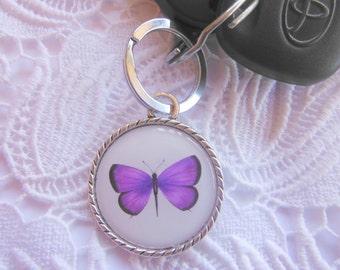 Purple Butterfly  Keyring