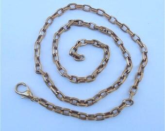 Vintage Gold Chain Belt Vintage Gold Tone Belt Vintage Oval Rolo Chain Link Vintage Gold Retro Hipster Belt Vintage Large Chain Link Belt