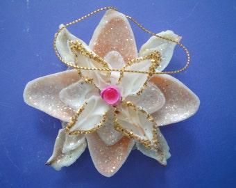 Christmas Seashell Snowflake Ornament