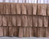 Custom Made  90 x 132 inches Rectangular 6ft Table  Burlap Tablecloth Head Table Skirting