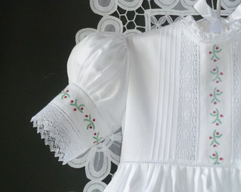 Girls Christmas Sateen Dress with Slip
