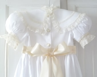 First Communion/Flower Girl Heirloom Dress and Slip Available Sizes:  3 thru 8