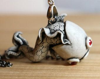 Koi Fish Necklace - White
