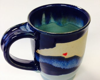 State coffee mug- customizable to your favorite state and city! Made to Order.