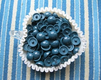 Vintage Teal Shank Buttons - CT/FL