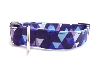 Blue Diamond Dog Collar and Leash, Blue Dog Collar, Boy Dog Collar, Blue Dog Leash, Constellations Dog Collar