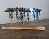 Upcycled Driftwood Copper Bracelet Storage Display Stand