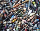 250 Handrolled Paper Beads - Jewellery Making Beads - Crafting Bead Supplies UK - Wholesale Beads - Multicoloured Beads