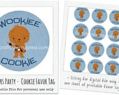 Star Wars Party - Wookiee Cookie Favor Tag - Printable Digital File