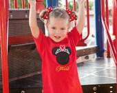 Minnie Mouse Tiara Disney Inspired T Shirt