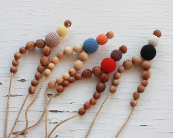 Funky Mama Nursing Necklace / Teething Necklace - Choose Your Color & Wood Type