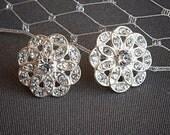 Bridal Crystal Earrings, Rhinestone Wedding Stud Earrings, Flower Bridal Stud Earrings, Art Deco Wedding Jewelry, Bridesmaid Earrings, CADIE