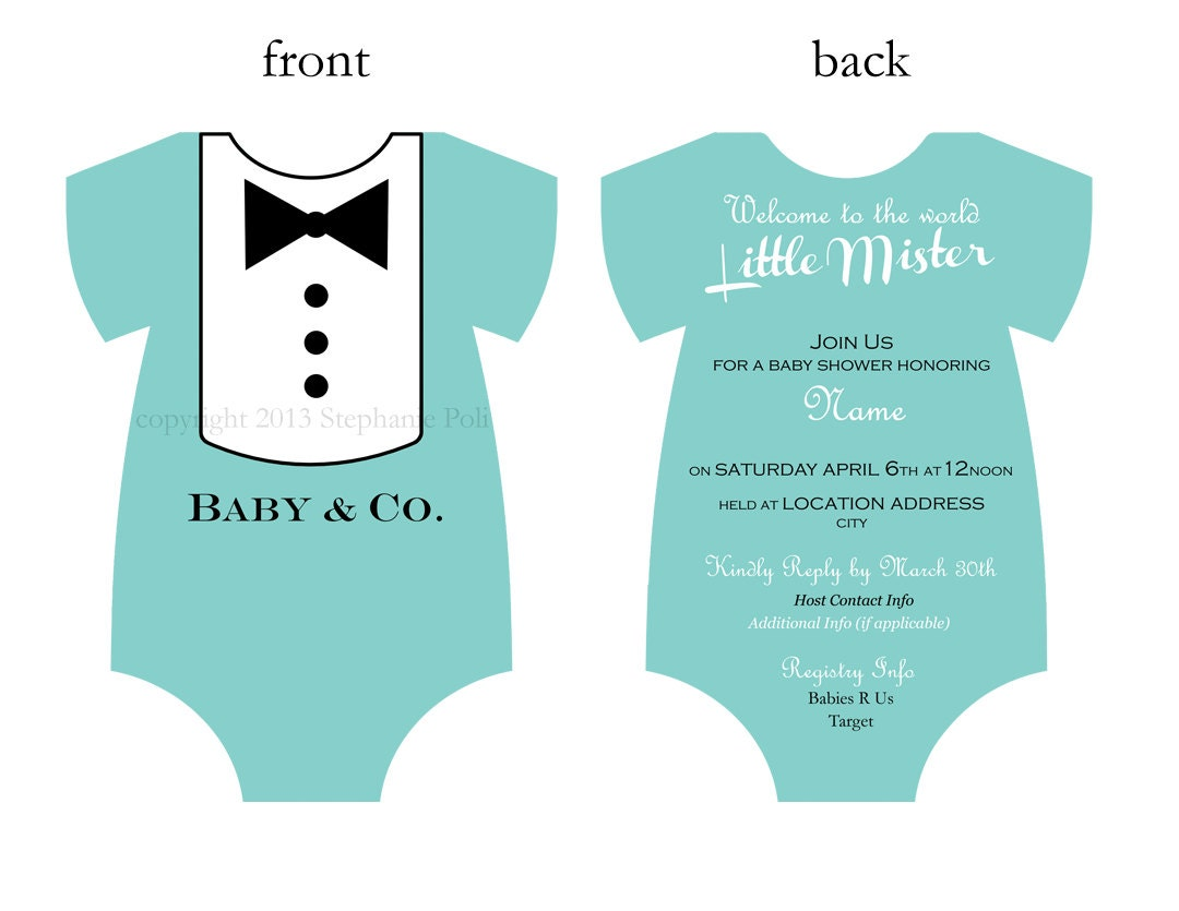 Tiffany And Co Baby Shower Invites as adorable invitations design