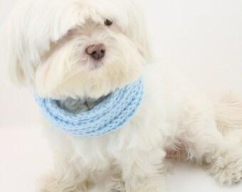 PDF DIGITAL PATTERN:Dog Scarf Pattern,Dog Cowl Pattern,Knit Dog Scarf,Knit Dog Cowl,Dog Neck Warmer,Blue Dog Cowl,Dog Clothes,Puppy Scarf