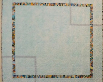 Modern Quilt with Scraps, Wall Hanging, Lap Quilt, Throw