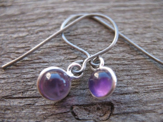 where to buy titanium earrings titanium earrings amethyst in sterling silver on titanium ear 2588