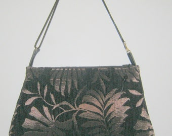 Upcycled Black Velvet Clutch with Optional Strap