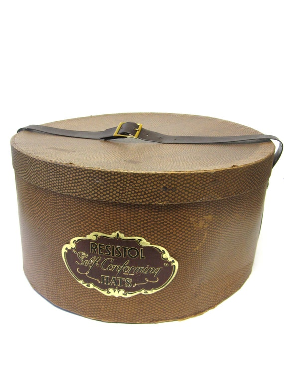 Vintage Resistol Self Conforming Hat Box Cowboy Millinery Mens