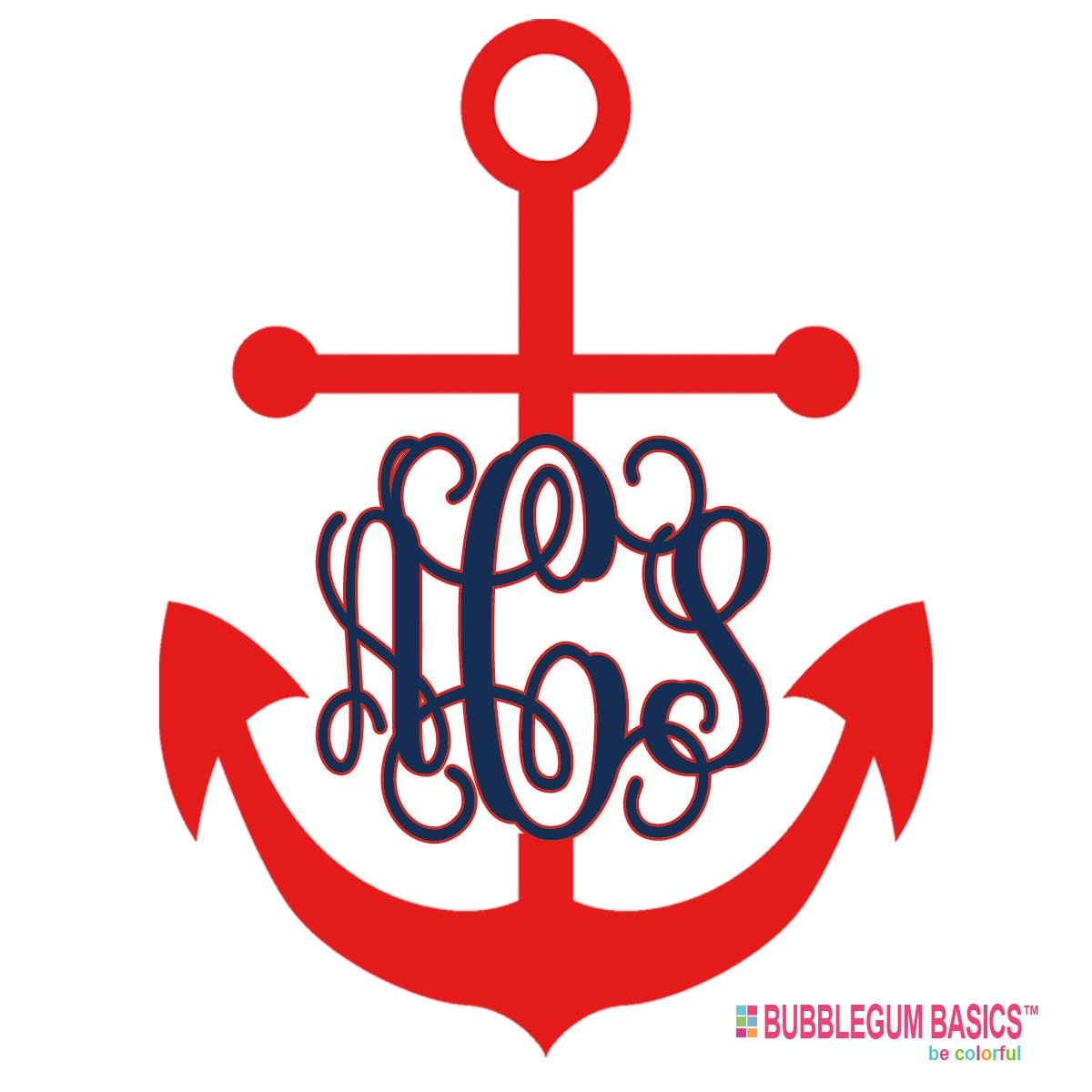 Custom Personalized Car Window Decal Sticker Nautical Anchor