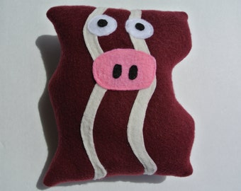 Pigsley The Baconator - Squeaky Bacon Dog Toy