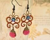 Flutter Ruby Earrings