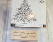 Stampin Up Rubber Stamps Wondrous Gift - used