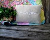 "Be Our Guest Pillow Cover 12 x 16"" Custom Embroidered Pillow Sham Wedding Anniversary Shower Housewarming Gift Lumbar Pillow"