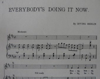 EveryBody's Doin it now by Irving Berlin 1911