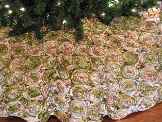 Christmas Tree Skirt Elegant Tree Skirt Shabby Chic Tree