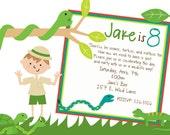 Reptile Fun Birthday Invitation Boy or Girl