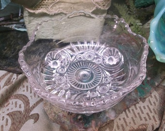 Pressed Glass Berry Bowl