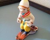 Ceramic Vintage Skier