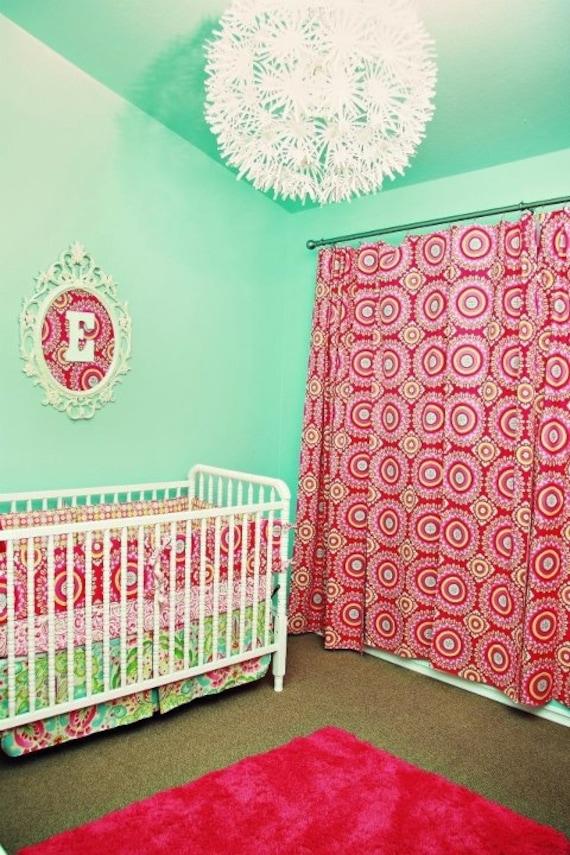 Custom Baby Crib Bedding -Design Your Own - Lined Drapery Panels