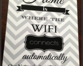 Home is where the WIFI connects, print