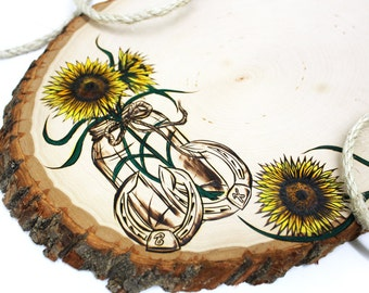 Sunflower Mason Jar Design: