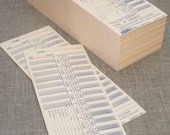 Vintage Time Cards Big Ole Stack of 200 plus - Paper Ephemera