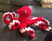 Poseable amigurumi octopus